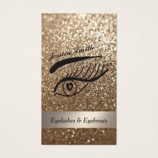 bezaubernde elegante glittery Wimpern u. Visitenkarten