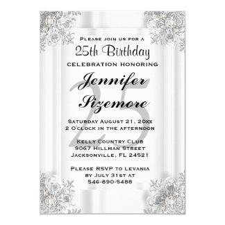 Bezaubernde Geburtstags-Schablone - 25. Geburtstag 12,7 X 17,8 Cm Einladungskarte