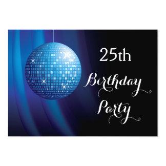Bezaubernder 25. Geburtstags-blauer 12,7 X 17,8 Cm Einladungskarte