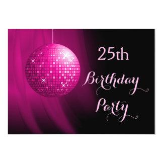Bezaubernder 25. Geburtstags-heißes 12,7 X 17,8 Cm Einladungskarte