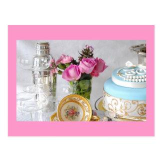 Bezaubernder 30 Feier-Kuchen Postkarte