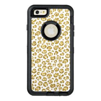 Bezauberndes Imitat-funkelnd Goldleopard OtterBox iPhone 6/6s Plus Hülle