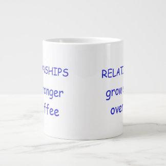 BEZIEHUNGEN wachsen über Kaffee stärker Jumbo-Tassen