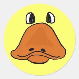 BG unglaublich witzig Cartoon-Enten-Gesichts-Aufk