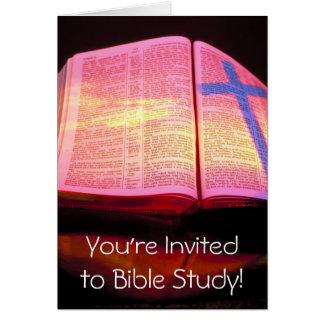 Bibel-Studien-Einladung Mitteilungskarte