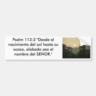 Bibel-Textsonnenuntergang des Psalm-113:3 Autoaufkleber