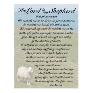 Bibel-Vers des Psalm-23, irische Postkarte