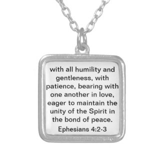 Bibel-Vers über Liebe für Heirat oder Hochzeit Halskette Mit Quadratischem Anhänger