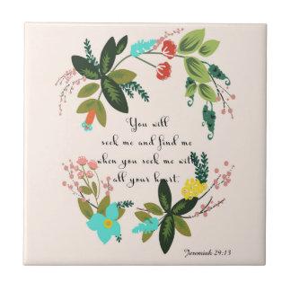 Bibel versifiziert Kunst - Jeremias-29:13 Fliese