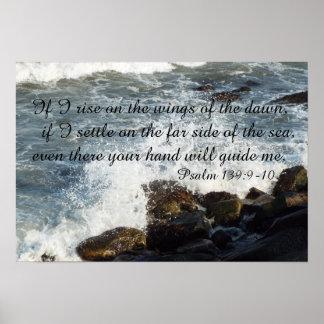 Bibelzitat Psalm-139:9 - Plakat 10