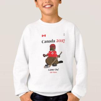 Biber-Hockeyspiel Kanadas 150 im Jahre 2017 an Sweatshirt