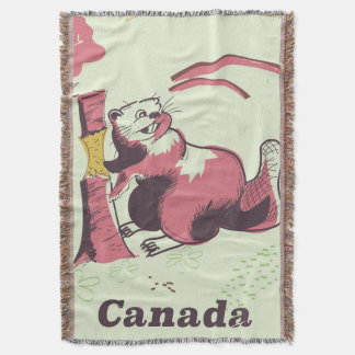 Biber-Reiseplakat Kanadas Vintages Decke