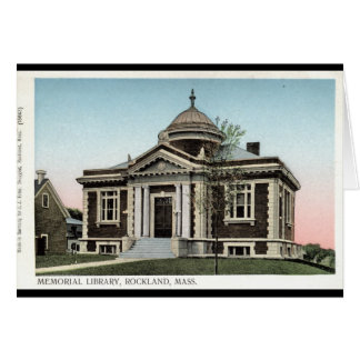 Bibliothek, Rockland Mass. Repro Vintages 1908 Karte
