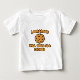 Bibliothekar. Arbeitet für Plätzchen Baby T-shirt