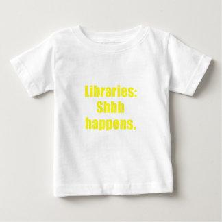 Bibliotheken Shhh geschieht Baby T-shirt