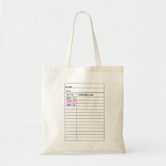 """""""Bibliotheks-Karten-"""" Taschen-Tasche Budget Stoffbeutel"""