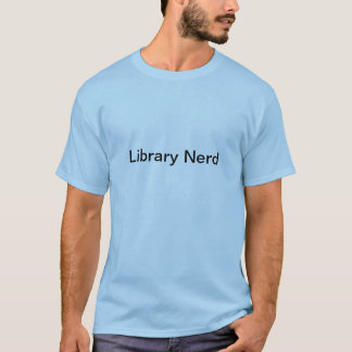 Bibliotheks-Nerd für Männer T-Shirt