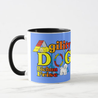 Bichon Frise Agility-Geschenke Tasse