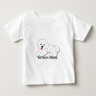 Bichon Frise HundeCartoon Baby T-shirt