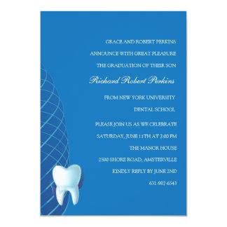 Bicuspid im blauen zahnmedizinische SchulAbschluss 12,7 X 17,8 Cm Einladungskarte