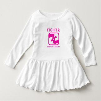 Biegen der Arme, um Brustkrebs zu kämpfen Kleid