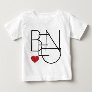 Biegungs-Oregon-Herz Baby T-shirt