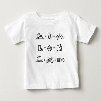 Biegungs-Oregon-Tätigkeits-Gleichungs-Logo Baby T-shirt