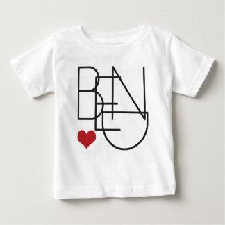 Biegungs-Oregon-Wort-Herz-Logo Baby T-shirt