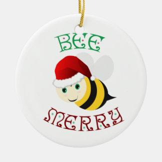 Biene fröhlich keramik ornament