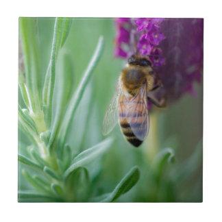 Biene im Lavendel Keramikfliese