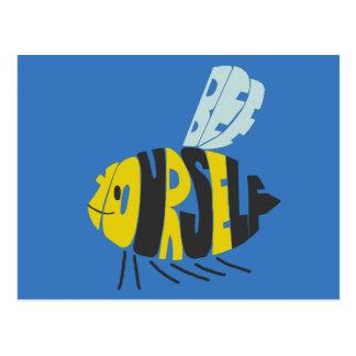 Biene sich postkarte