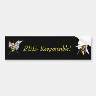 Biene-Verantwortlicher Autoaufkleber