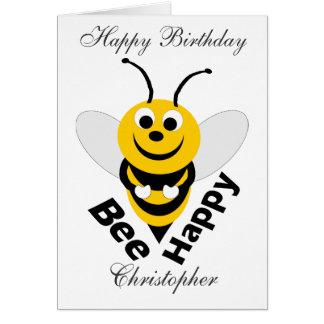 Bienen-alles Gute zum Geburtstag Karte