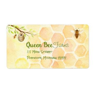 Bienen-Bienenhaus-Honig-Verschiffen-Aufkleber