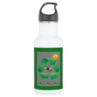Bienen-Grün - niedliches Klima Edelstahlflasche