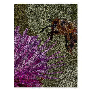 Bienen-Mosaik Postkarte