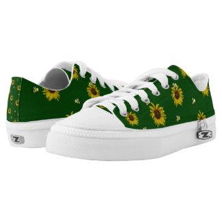 Bienen und Sonnenblumen Niedrig-geschnittene Sneaker
