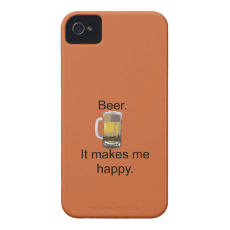 Bier. Es macht mich glücklich iPhone 4 Case-Mate Hülle