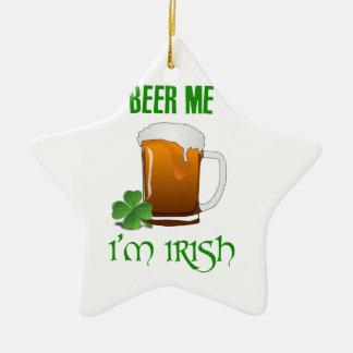 Bier ich bin ich irisch keramik Stern-Ornament