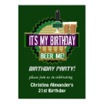 Bier ich Geburtstags-Party Einladungen