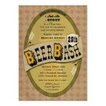 Bier-Party-oder Bier-Schlag-Einladung