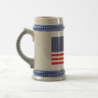 Bier-Tassen der amerikanischen Flagge Bierkrug