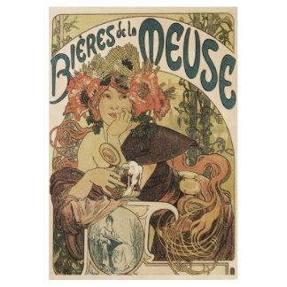 Bieres de le Maas Plakat Holzposter