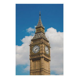 Big Ben-Turm-Westminster-Palast, London, England Poster