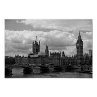 Big Ben und Parlament (London) Poster