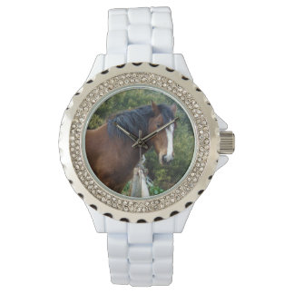 Big_Brown_Clydesdale_Ladies_Sparkle_Watch. Armbanduhr