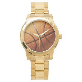 Big_Orange_Basketball, _Unisex_Gold_Watch. Uhr