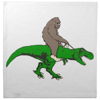 Bigfoot, der T Rex reitet Serviette