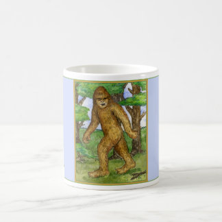 Bigfoot in der Holz-Tasse Tasse