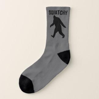 Bigfoot-Silhouetten mit kundenspezifischem Text Socken